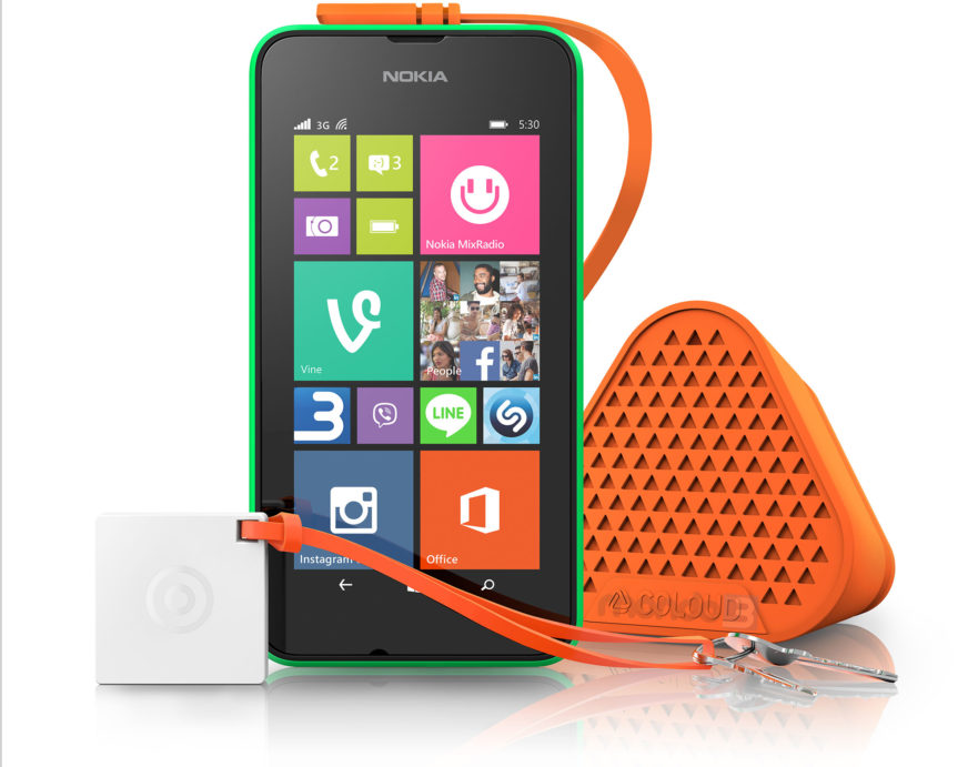 Lumia 530 e speaker Bang by Coloud