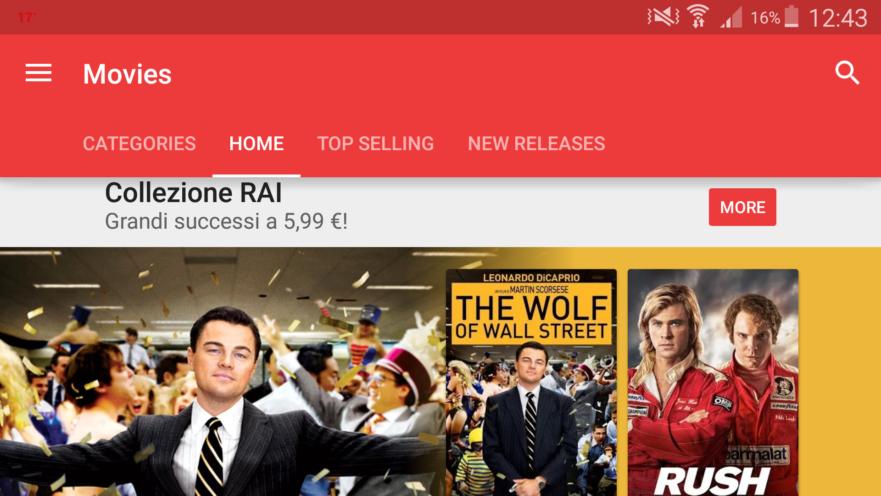 I film della collezione Rai Cinema su Google Play Film (App Store)