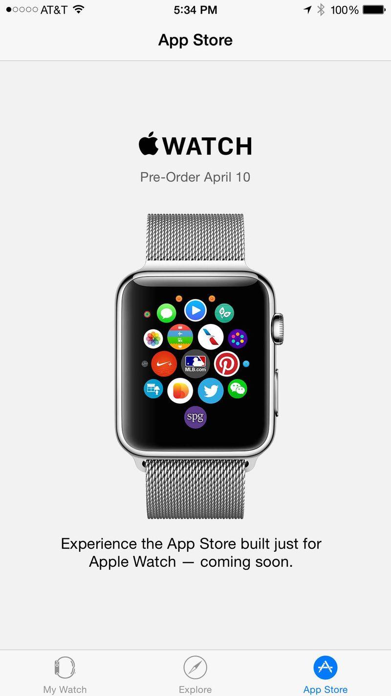 App Apple Watch su iOS 8.2